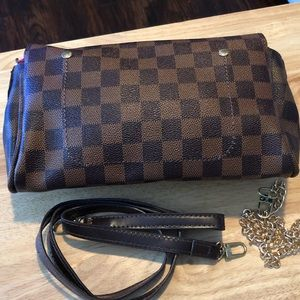 Handbags - Brown checkered purse